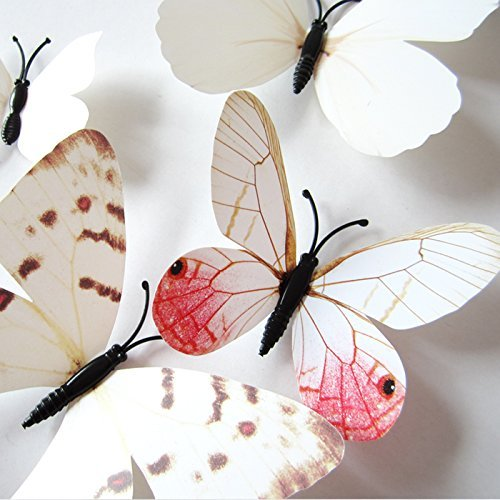 24pcs 3D Man-made Butterfly Art DIY Decor Wall Stickers & 3D Butterfly Wall Decor Stickers