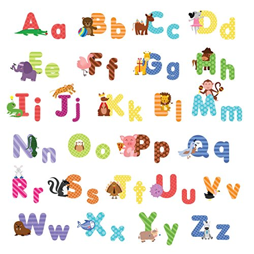 Animal alphabet wall decals shop kids parties for Decorative letters for kids room