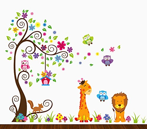 35 jungle themed wall decals for toddlers nurseries and for Jungle themed playroom