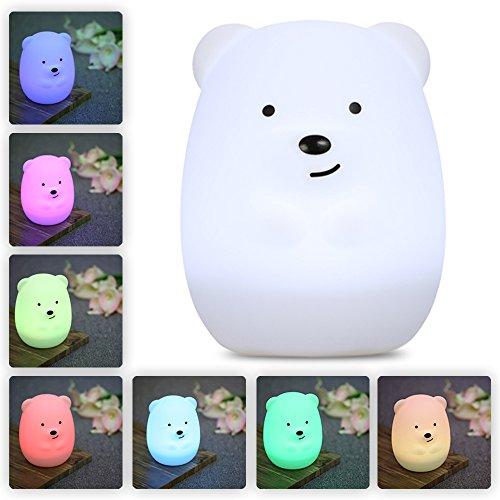 Baby Bear Night Light Nursery Lamp Kids Parties Gift Idea