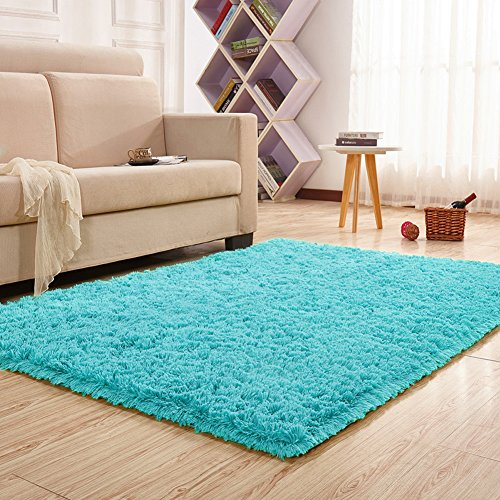 modern bedroom rugs keep your warm on the cold floors with a fluffy blue 12507