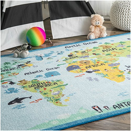 Learn The World With This Animal World Baby Blue Nursery