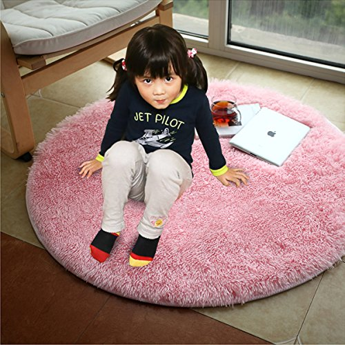 Purchase This Soft Round Pink Area Rug For Your Nursery